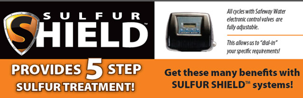 Sulfur Shield - provides 5 step suflur treatment for your water.